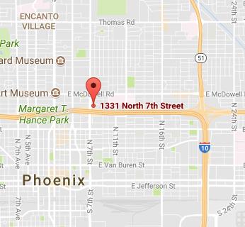 Pain Clinic Office Map Phoenix, AZ
